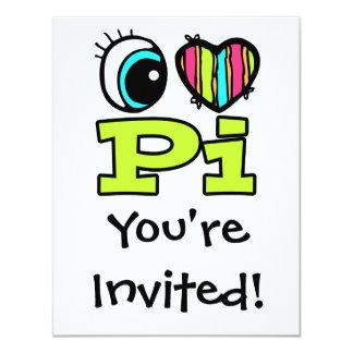 Bright Eye Heart I Love Pi Card