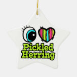 Bright Eye Heart I Love Pickled Herring Christmas Ornament