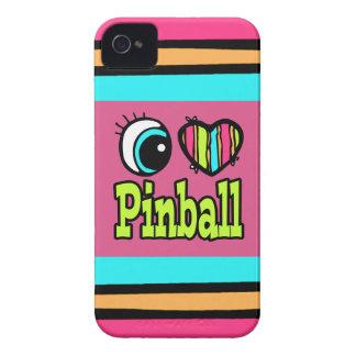 Bright Eye Heart I Love Pinball iPhone 4 Cover