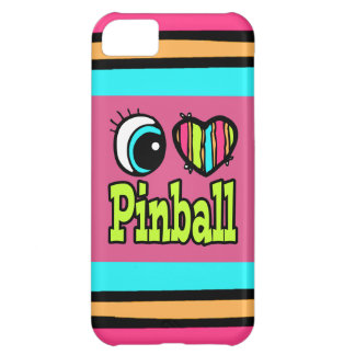 Bright Eye Heart I Love Pinball Cover For iPhone 5C