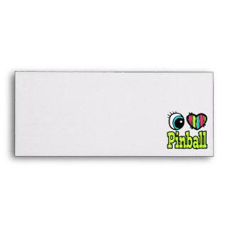 Bright Eye Heart I Love Pinball Envelopes