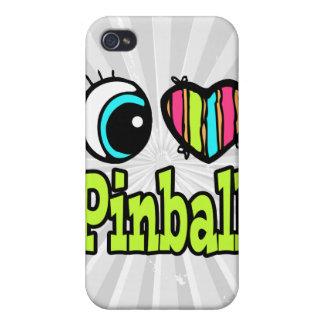 Bright Eye Heart I Love Pinball Case For iPhone 4