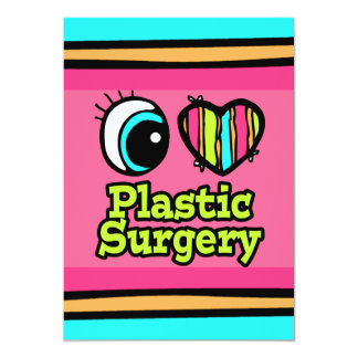 Bright Eye Heart I Love Plastic Surgery Card