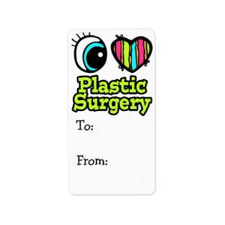 Bright Eye Heart I Love Plastic Surgery Label