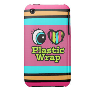 Bright Eye Heart I Love Plastic Wrap iPhone 3 Case