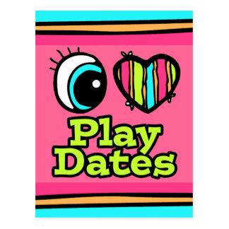 Bright Eye Heart I Love Play Dates Post Card