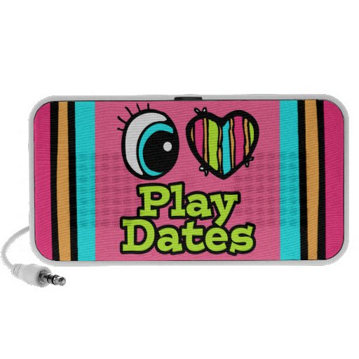 Bright Eye Heart I Love Play Dates Travelling Speakers