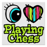 Bright Eye Heart I Love Playing Chess Print