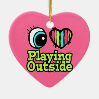 Bright Eye Heart I Love Playing Outside Christmas Tree Ornaments