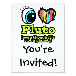 Bright Eye Heart I Love Pluto 4.25x5.5 Paper Invitation Card