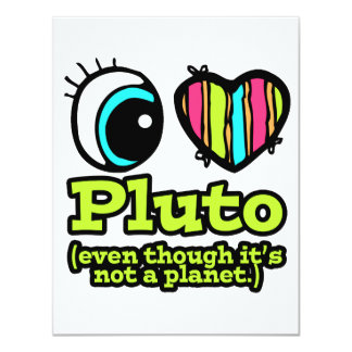 Bright Eye Heart I Love Pluto Custom Announcement