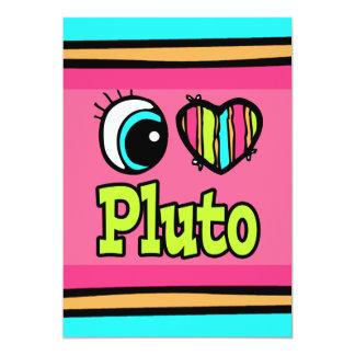 Bright Eye Heart I Love Pluto Invitations