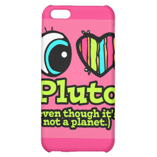 Bright Eye Heart I Love Pluto Cover For iPhone 5C