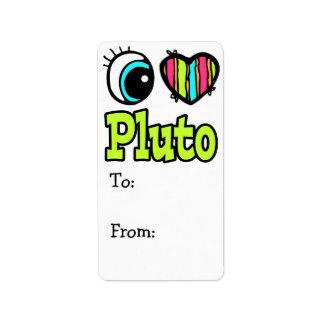 Bright Eye Heart I Love Pluto Address Label