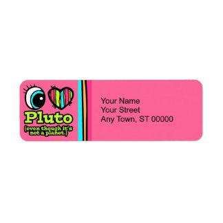Bright Eye Heart I Love Pluto Return Address Label