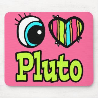 Bright Eye Heart I Love Pluto Mouse Pad