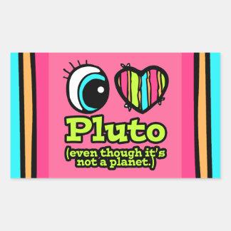 Bright Eye Heart I Love Pluto Stickers