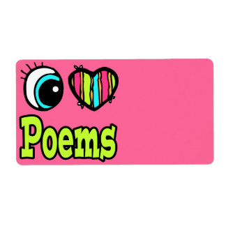 Bright Eye Heart I Love Poems Custom Shipping Labels