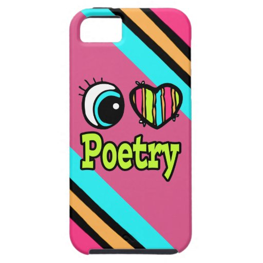 Bright Eye Heart I Love Poetry iPhone 5 Case