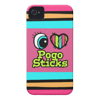Bright Eye Heart I Love Pogo Sticks iPhone 4 Cases
