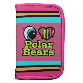 Bright Eye Heart I Love Polar Bears Organizer