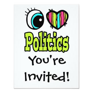 Bright Eye Heart I Love Politics Card