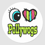 Bright Eye Heart I Love Pollywogs Classic Round Sticker