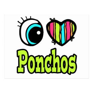 Bright Eye Heart I Love Ponchos Postcard