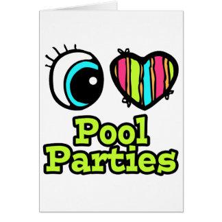 Bright Eye Heart I Love Pool Parties Card