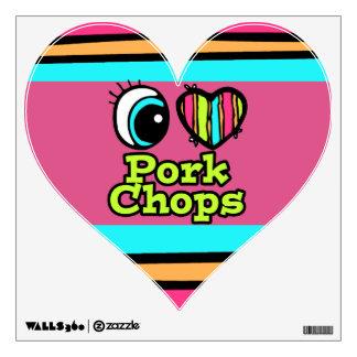 Bright Eye Heart I Love Pork Chops Wall Skin