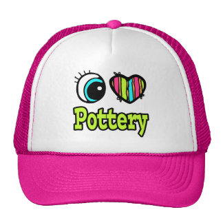 Bright Eye Heart I Love Pottery Hat