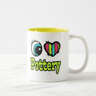Bright Eye Heart I Love Pottery Coffee Mug