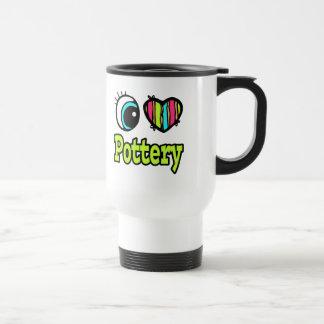 Bright Eye Heart I Love Pottery Mugs