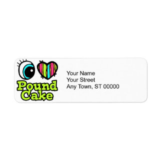 Bright Eye Heart I Love Pound Cake Label