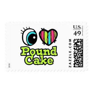 Bright Eye Heart I Love Pound Cake Postage