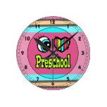 Bright Eye Heart I Love Preschool Wall Clock