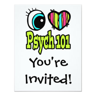 Bright Eye Heart I Love Psych 101 Card