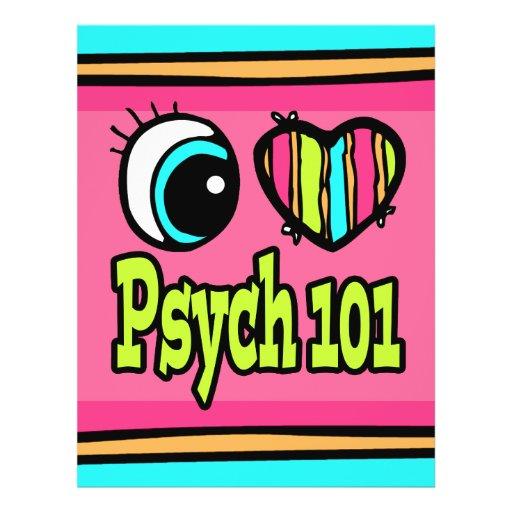 Bright Eye Heart I Love Psych 101 Flyer Design