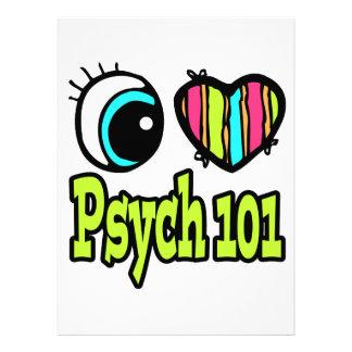 Bright Eye Heart I Love Psych 101 Personalized Invitation