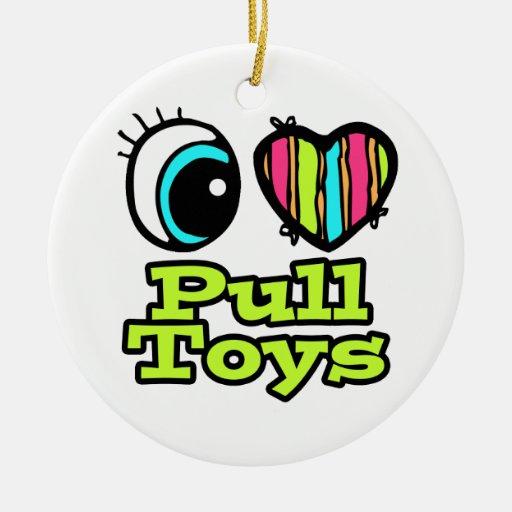 Bright Eye Heart I Love Pull Toys Christmas Tree Ornaments