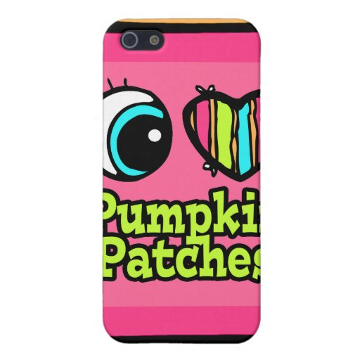 Bright Eye Heart I Love Pumpkin Patches iPhone 5 Case