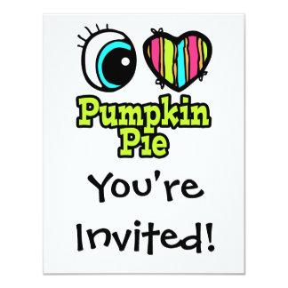 Bright Eye Heart I Love Pumpkin Pie Card