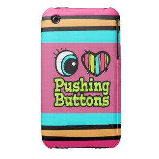 Bright Eye Heart I Love Pushing Buttons Case-Mate iPhone 3 Cases