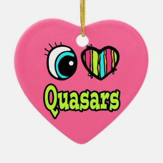 Bright Eye Heart I Love Quasars Christmas Tree Ornaments