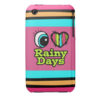Bright Eye Heart I Love Rainy Days Case-Mate iPhone 3 Cases
