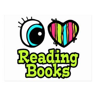 Bright Eye Heart I Love Reading Books Postcard
