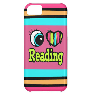 Bright Eye Heart I Love Reading Cover For iPhone 5C