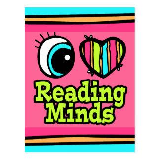 Bright Eye Heart I Love Reading Minds Postcard