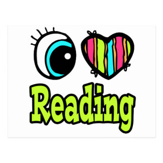 Bright Eye Heart I Love Reading Postcard
