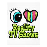 Bright Eye Heart I Love Reality TV Shows Personalized Invitation